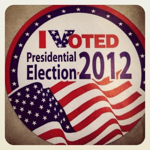 I Voted Presidential Election 2012 Sticker