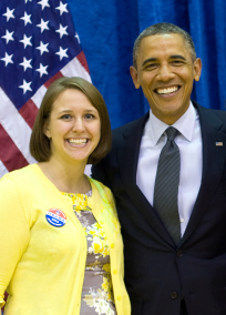Michelle Corkins and POTUS