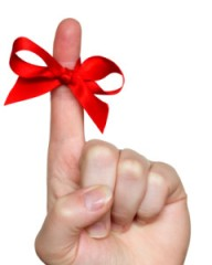 Red Ribbon Around Finger