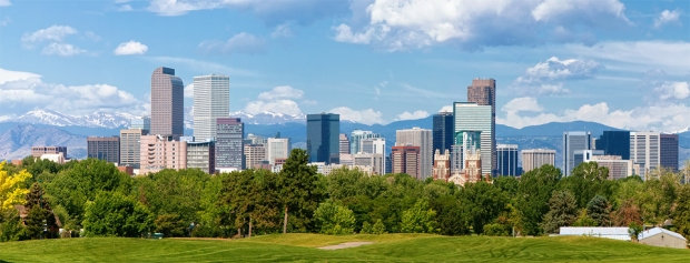 Denver Skyline Panoramic Daytime