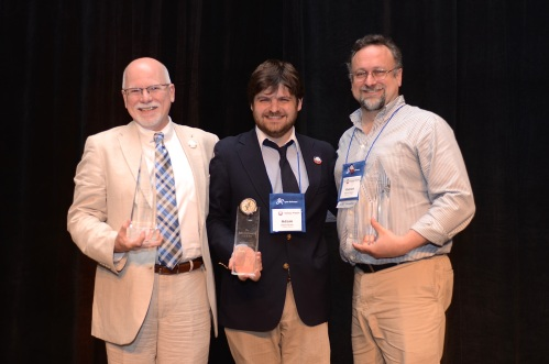 The 2015 AASCU/ADP Plater, Saltmarsh, and Burch award recipients: Michael Vaughan, Provost of Weber State University (Utah); Adam Bush, Provost of College Unbound; and Patrick Dolenc, Professor of Economics at Keene State College (N.H.), respectively