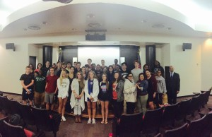 Jerry Gonzalez and KSU students