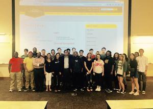 Michael Slacker, Carlton Usher and KSU students