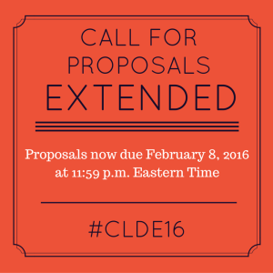 CLDE 2016_Proposal Deadline Extended