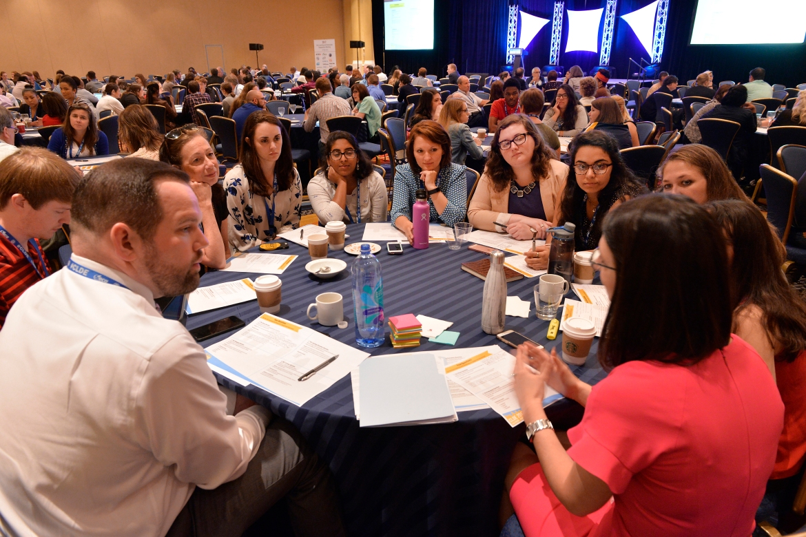 CLDE_06102017_27.JPG Participants at the 2017 Civic Learning and Democratic Engagement Meeting grapple with